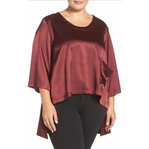 Melissa Mccarthy Seven7 Charmeuse High Low Tee